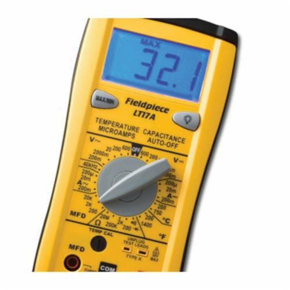 Fieldpiece LT17A Classic Digital Multimeter, 600 VAC/VDC, 400 A, 40 mOhm, LCD Display