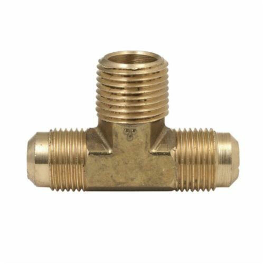 BrassCraft® 145 Series Flare Male Tee Adaptor, OD Tube x OD Tube x MNPT, Brass