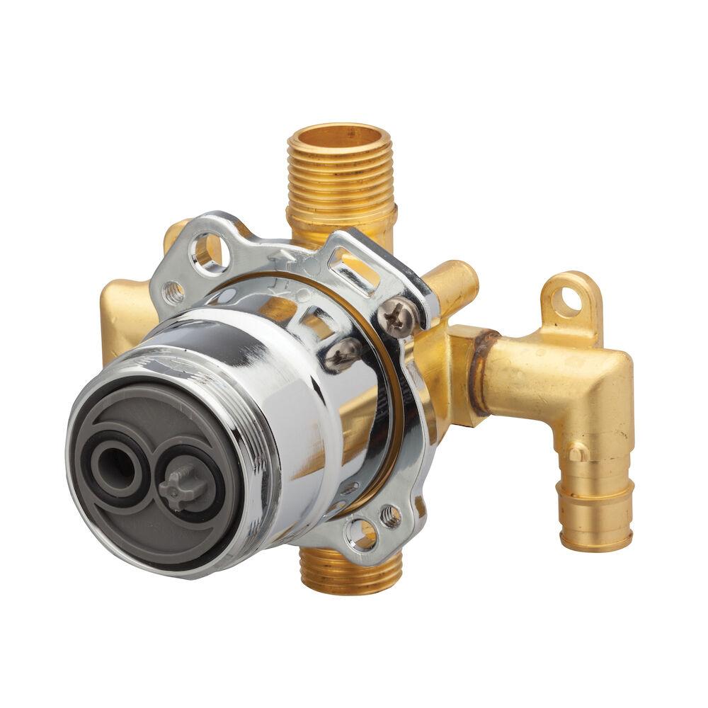 Gerber® G00GS527 Vertical Input Tub and Shower Valve, Hand Shower: No