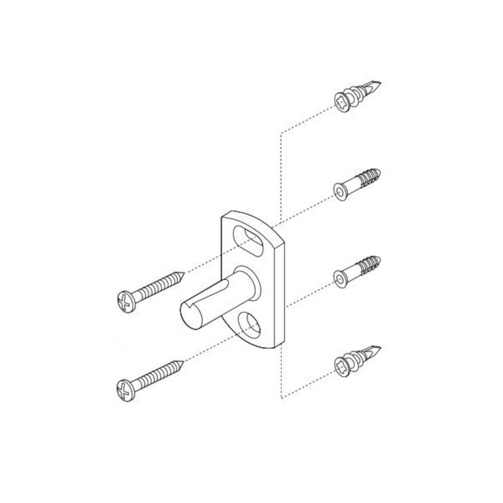 Brizo® RP50676 RSVP® Mounting Hardware, For Use With Model 69918 and 69924 Single Towel Bar, Domestic