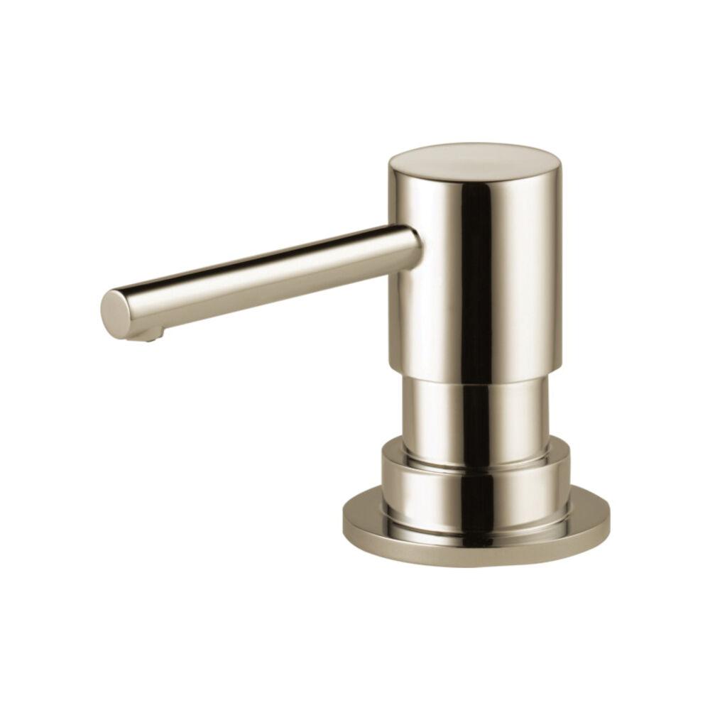 Brizo® RP79275PN Solna® Soap/Lotion Dispenser, Polished Nickel, 15 oz, Deck Mount, Import