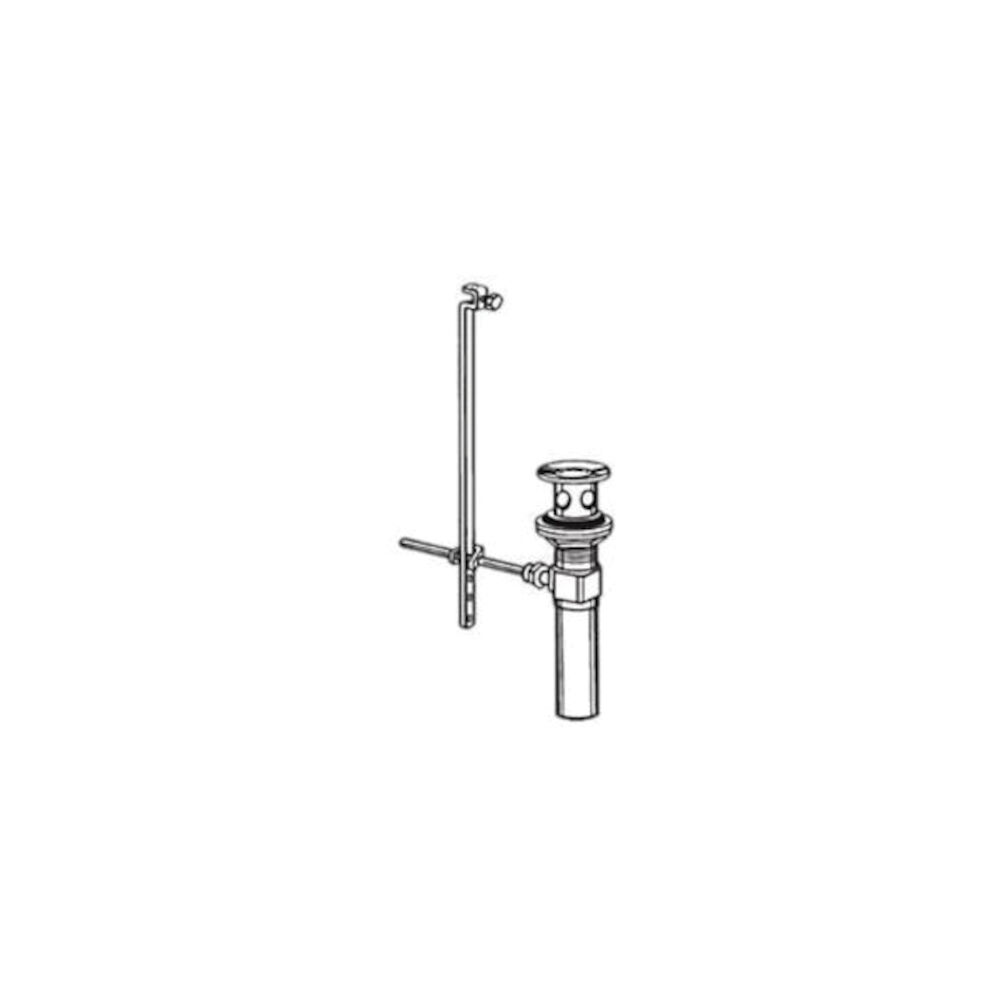 Brizo® RP28653 Complete Pop-Up Assembly, Chrome Plated, Overflow: No, Full Metal Drain, Includes Lift Rod: NO