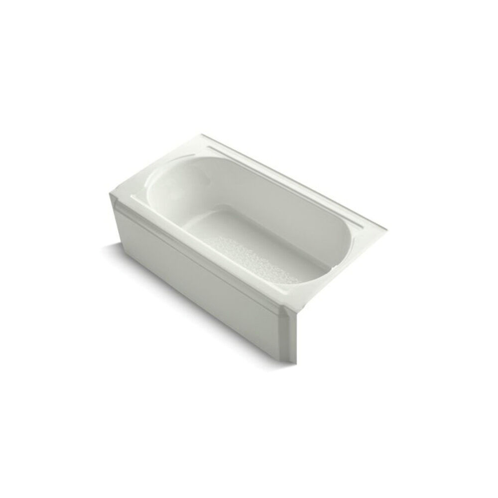Kohler® 722-NY Memoirs® Bathtub with Integral Apron, Soaking Hydrotherapy, Rectangular, 60 in L x 33-3/4 in W, Right Drain, Dune