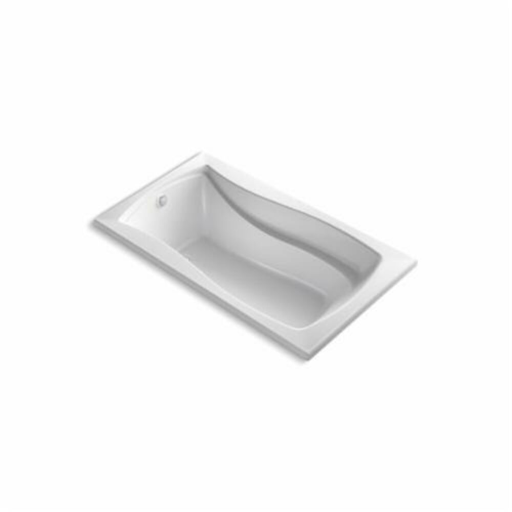 Kohler® 1224-GW-0 Mariposa® Bathtub With Reversible Drain, BubbleMassage™, Rectangular, 66 in L x 36 in W, End Drain, White