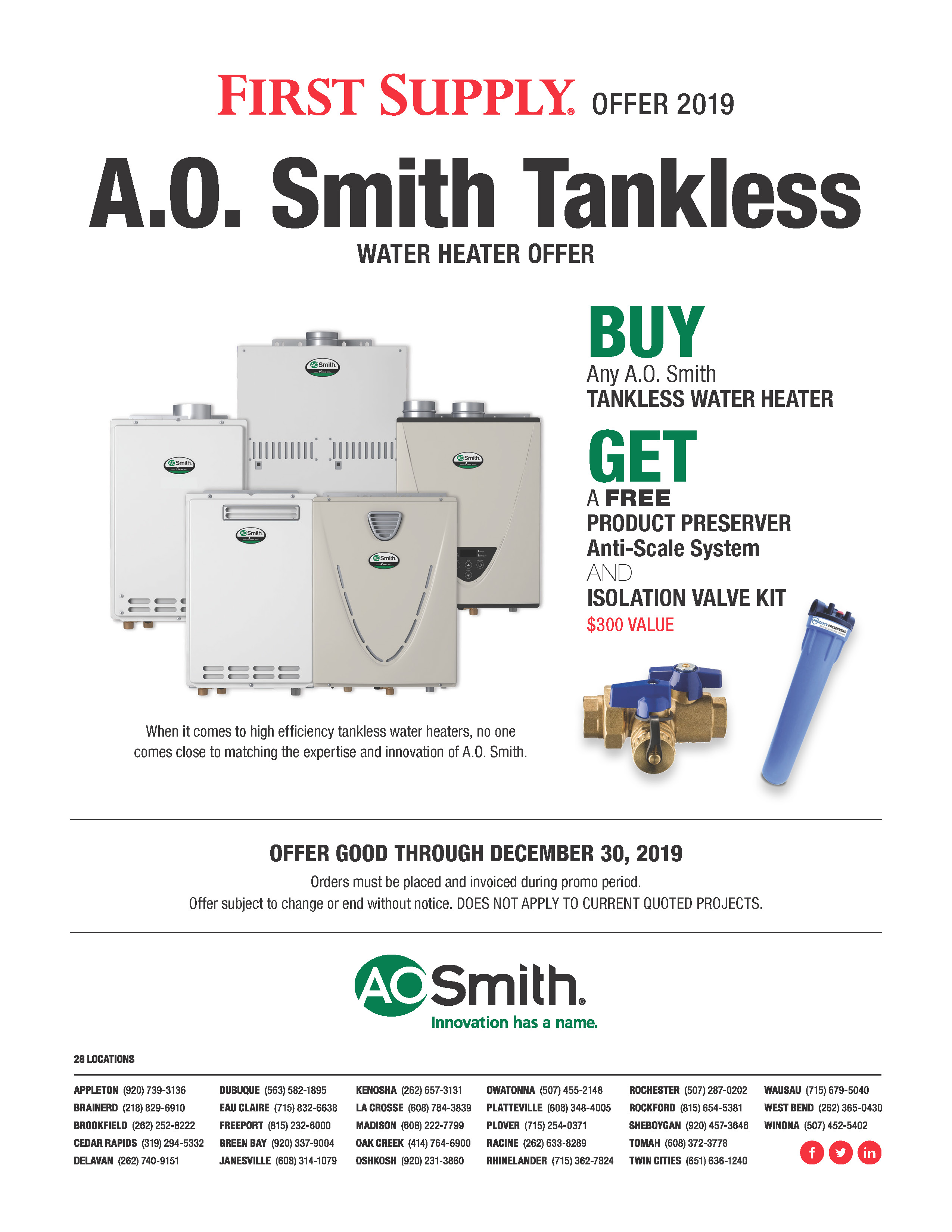 A.O. Smith Tankless Offer