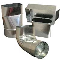 Snappy Galvanized Oval Fittings