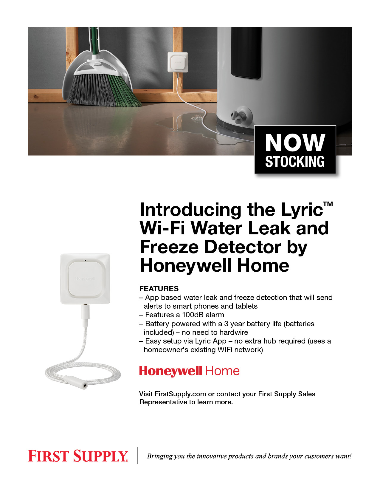 Introducing the Lyric Wi-Fi Water Leak and Freeze Detector by Honeywell Home